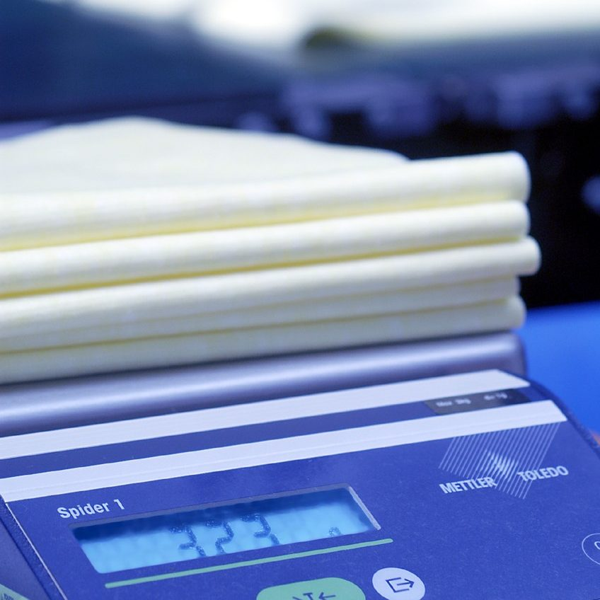 Quality control nonwoven wipes